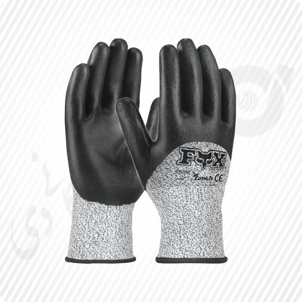 دستکش ضد برش hppe کات3 نیم مواد نیتریل